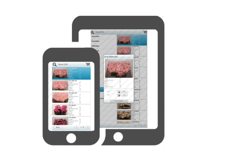 Wholesale plants flowers sundries app - live webshop