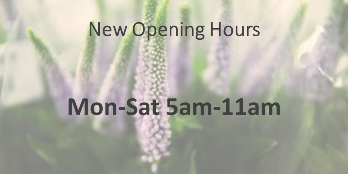 New Cash & Carry opening hours CJ Love Mon-Sat 5am-11am